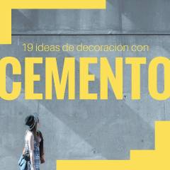 19 ideas de decoración diy hechas con cemento