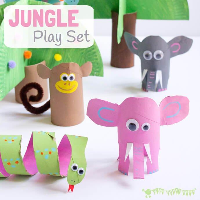 Manualidades infantiles 19 manualidades con rollos de papel handfie diy - Manualidades con papel craft ...