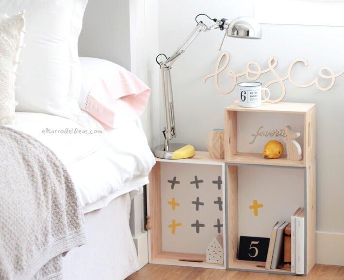 Bricolaje casero ideas para decorar tu dormitorio - Ideas mesitas de noche ...