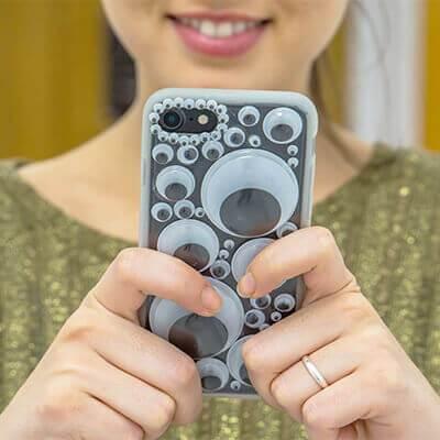 Funda para el móvil con ojos