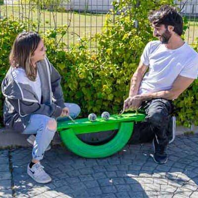 Balanc n con un neum tico tutorial handfie diy for Balancin jardin ikea