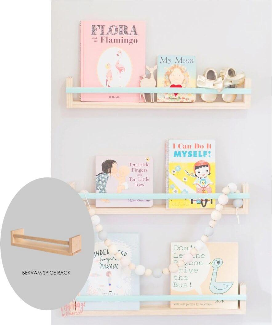 Especiero Bekväm convertidos en estanterías para habitación infantil