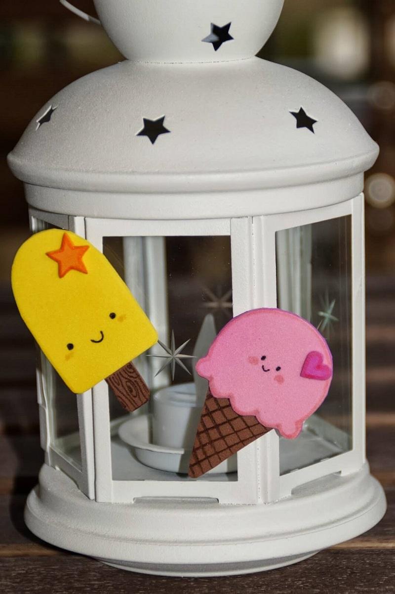 Imanes de goma eva con forma de helados