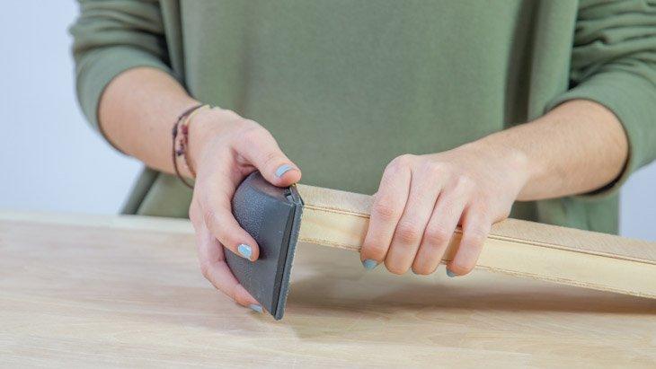 Lijado soporte para los cuchillos
