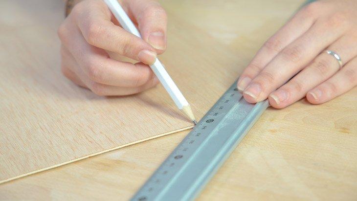 Marcado de piezas de madera