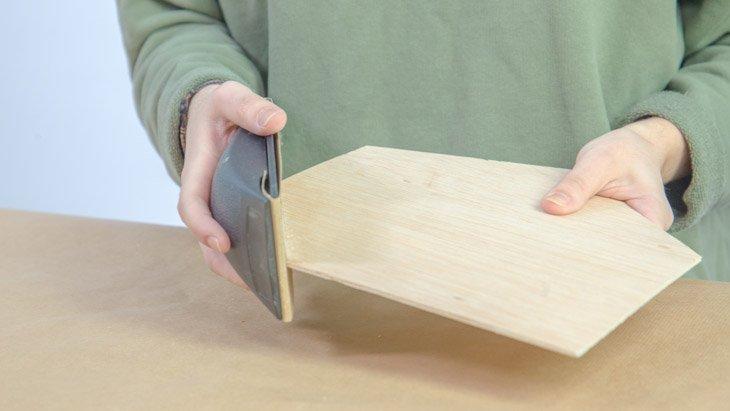 Lijado de piezas de madera