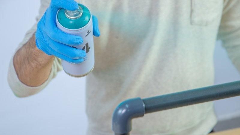 Pintado del zapatero con tuberías