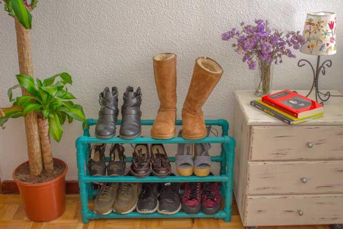 C mo hacer un zapatero con tubos de pvc handfie diy - Como construir un zapatero ...