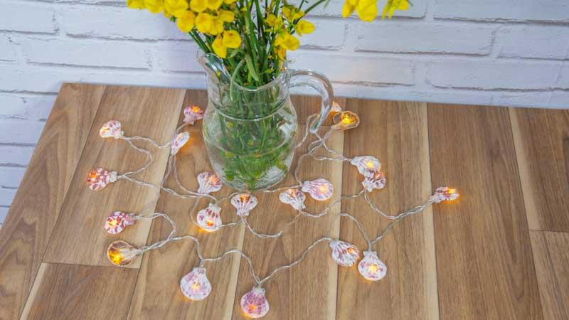 Guirnalda de conchas DIY