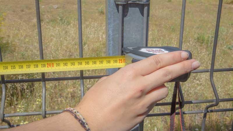 Medición de la valle con un flexómetro
