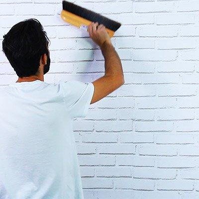 C mo poner papel pintado en la pared handfie diy - Poner papel pintado sobre gotele ...