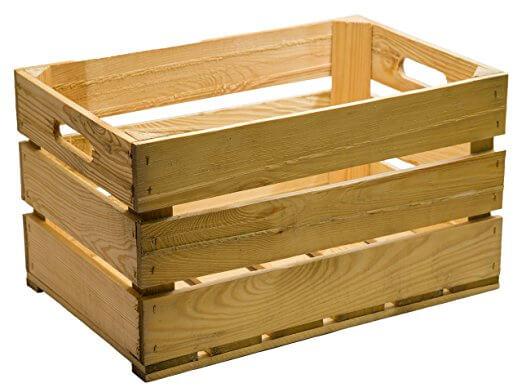 Caja de madera de frutas para regalo