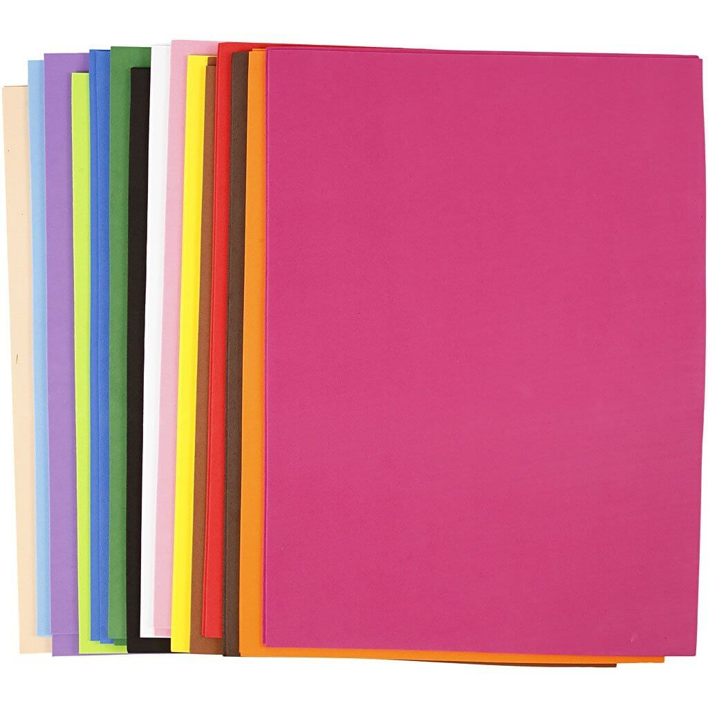 Planchas de goma eva de colores