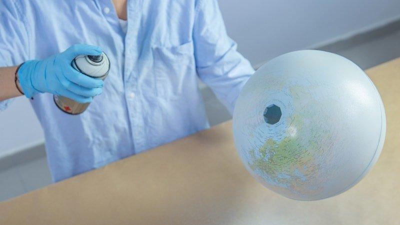 Capa de color base para convertir el globo en luna