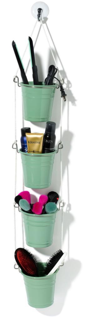Organizador para el baño hecho con cubos