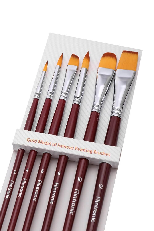 Set de pinceles para pintura acrílica