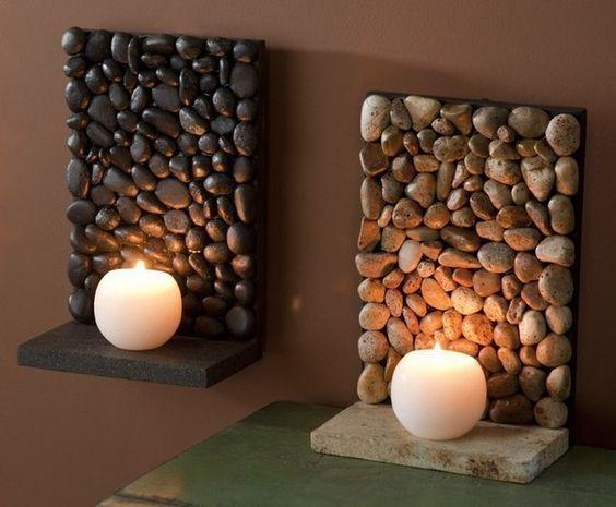 Manualidades f ciles con piedras decoraci n natural y for Diseno de piedras decorativas