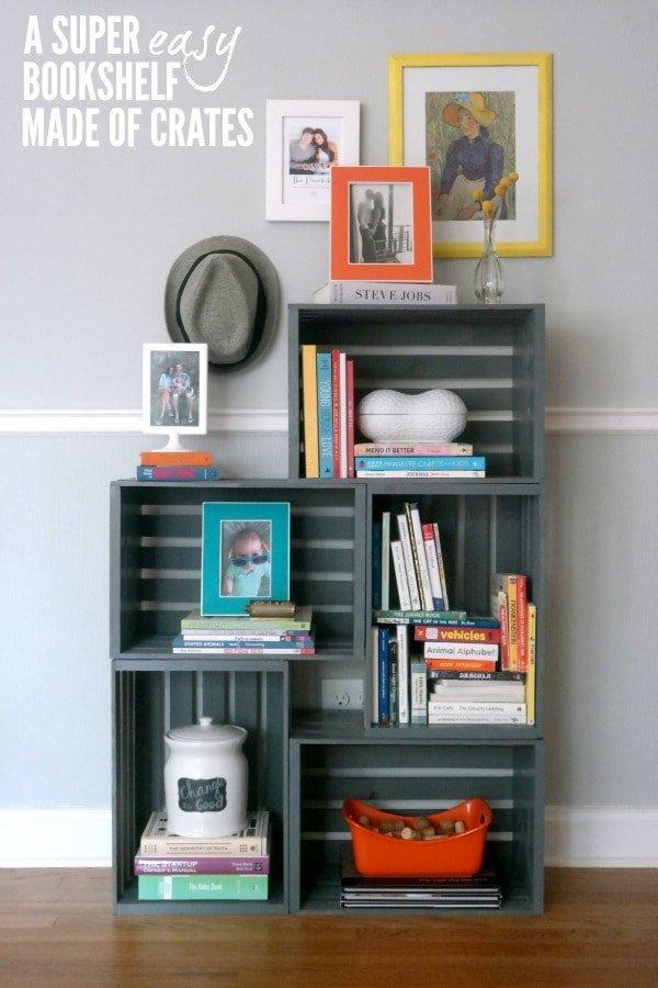 16 ideas de decoraci n con cajas de madera handfie diy - Como hacer estanterias de madera ...