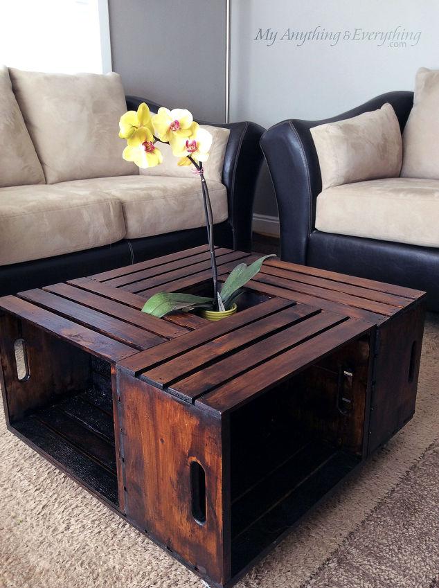 16 ideas de decoraci n con cajas de madera handfie diy - Mesas con cajas de madera ...