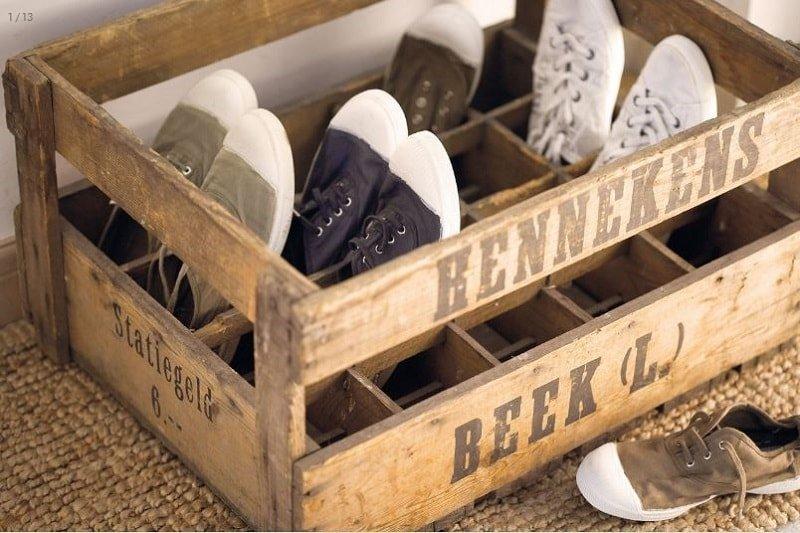 Resultado de imagen para Cajas de vino para organizar zapatos