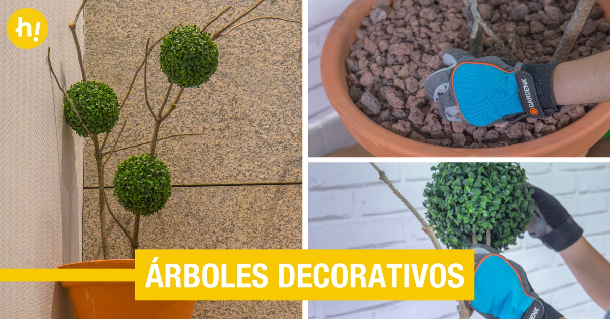 Rboles decorativos de interior con unas ramas handfie diy for Arboles decorativos jardin