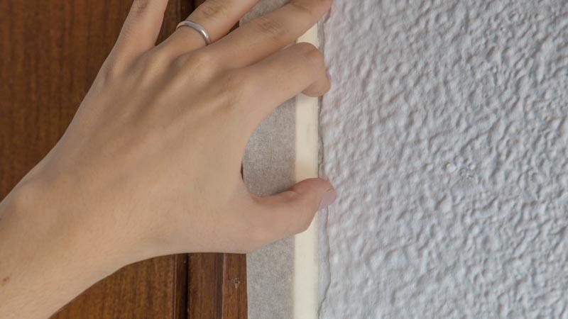Delimitación de la zona en la que aplicar la masilla con cinta de carrocero