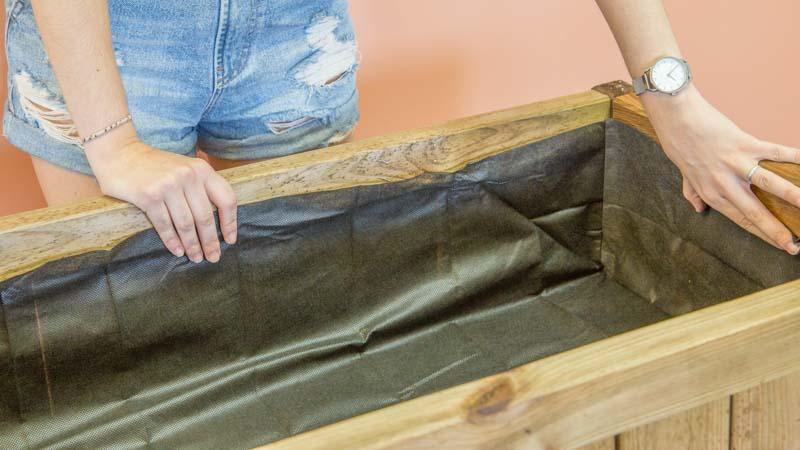 Colocación de la tela geotextil