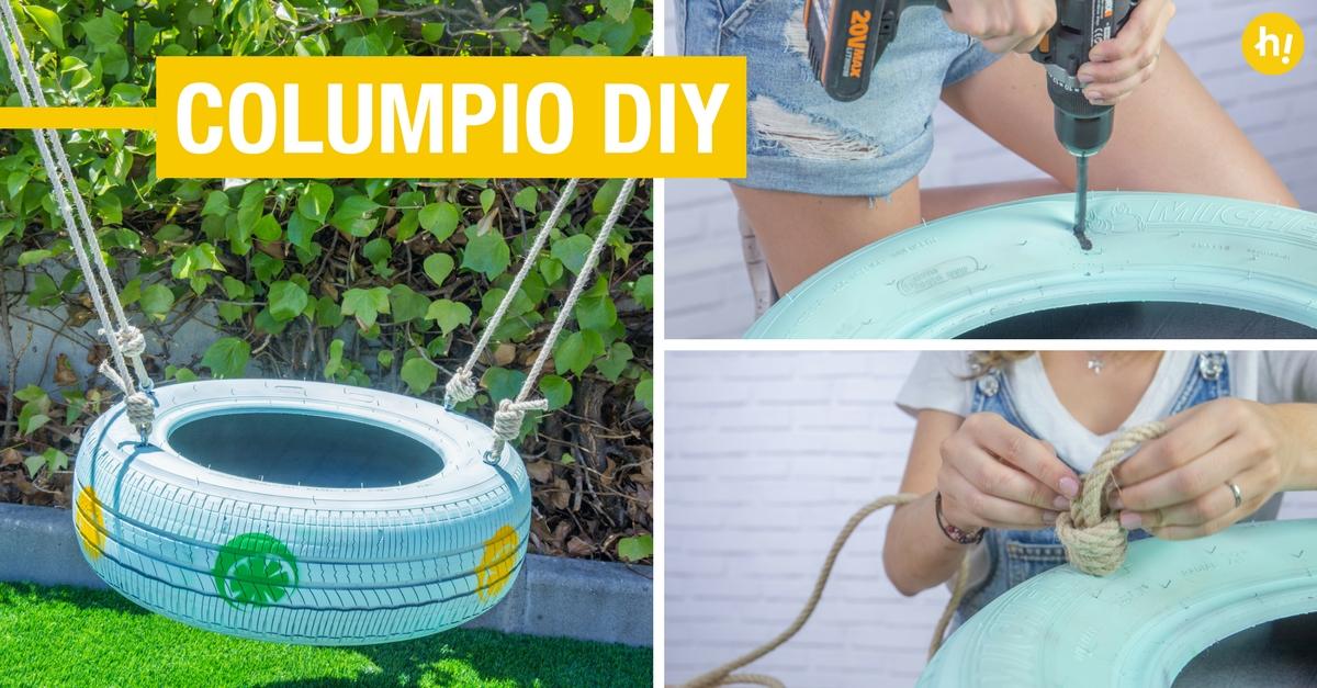 Columpio diy con un neum tico reciclado handfie diy - Columpio jardin ikea perpignan ...