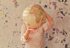 ideas para decorar con mapas