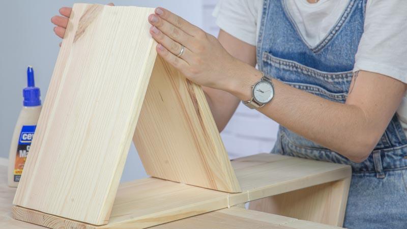 Unión de las piezas de madera tras el encolado