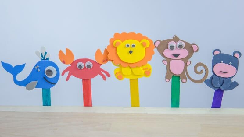Manualidades Infantiles.Manualidades Infantiles Marionetas Goma Eva Handfie Diy