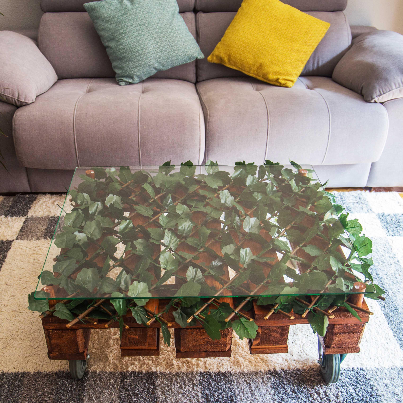 Mesa de centro hecha a partir de un palet