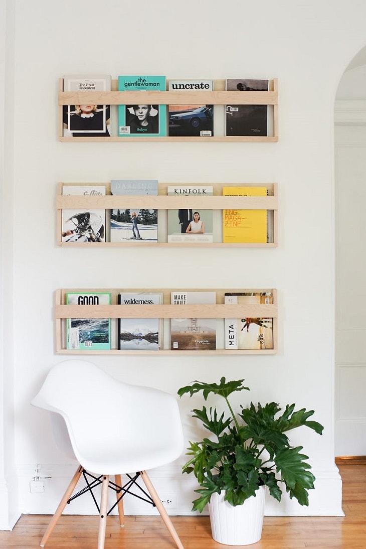 10 revisteros diy que puedes hacer en casa handfie diy - Revisteros de pared ...