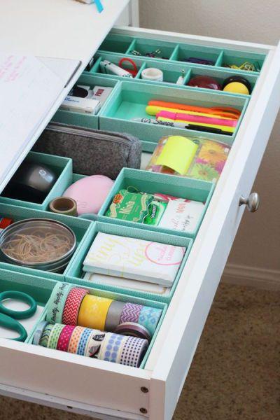 Cajones organizados mediante cajas