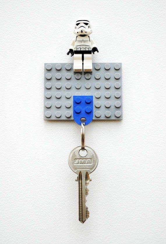 Colgador de llaves de lego