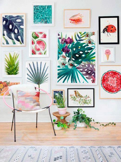 fotos con motivos gráficos para pisos de alquiler