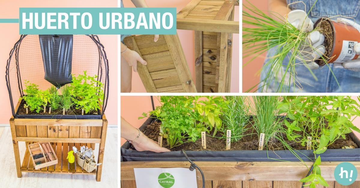 Huerto urbano con un ingl de cultivo y riego por goteo - Huertos urbanos ikea ...