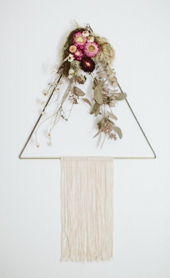 Ideas con flores secas decoracion pared 03 handfie diy - Flores secas decoracion ...