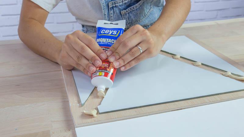 Artesanato Comunidade Quilombola ~ Espejo geométrico de madera Handfie DIY