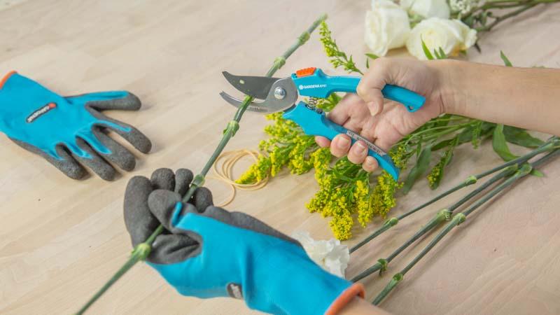Podar tallos de flores