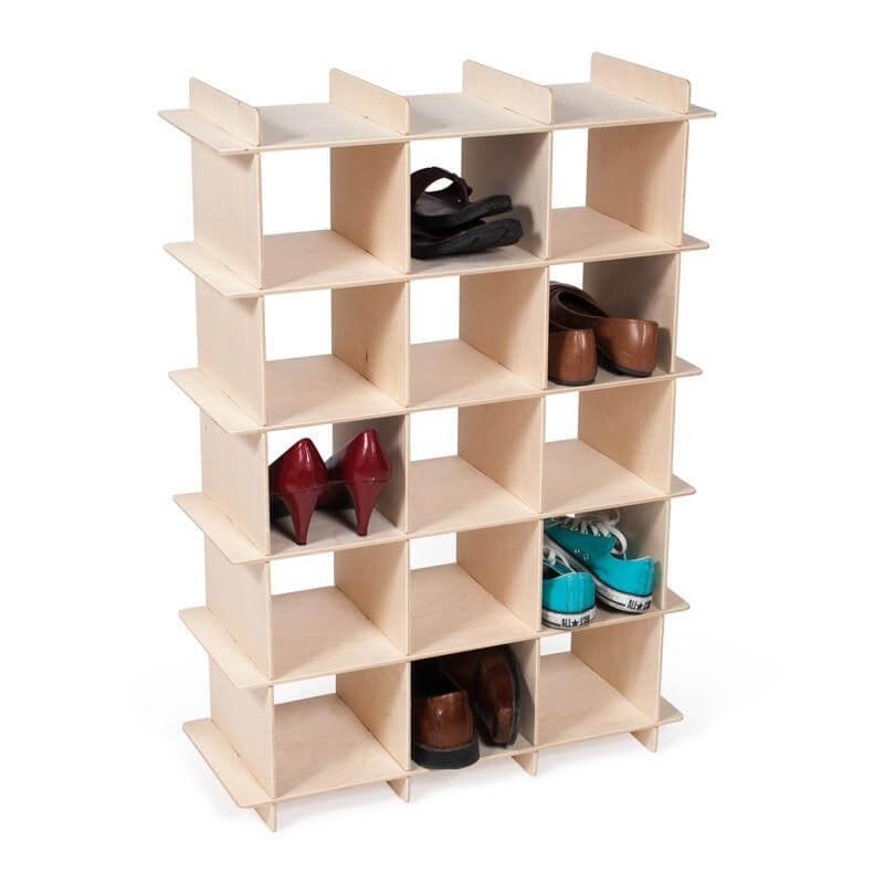 Zapateros diy 13 ideas para crear tu propio zapatero for Imagenes de zapateras de madera