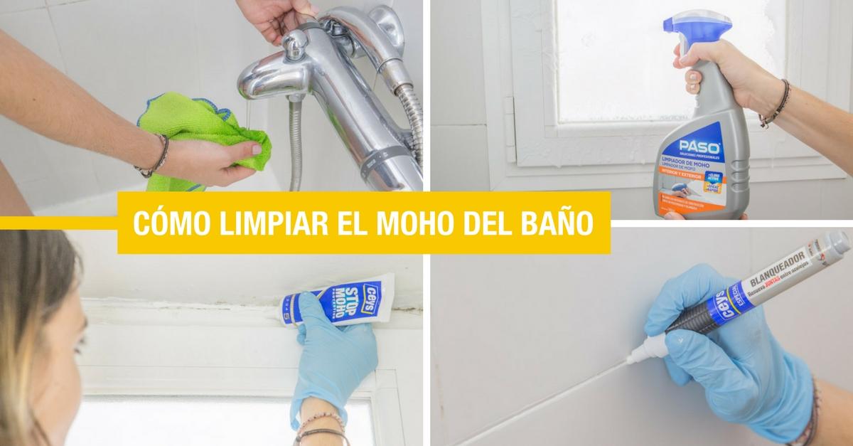 C mo limpiar el moho de la ducha y el ba o handfie diy - Como limpiar el moho del bano ...