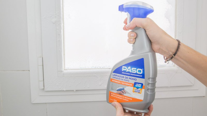 Aplicación del limpiador de moho