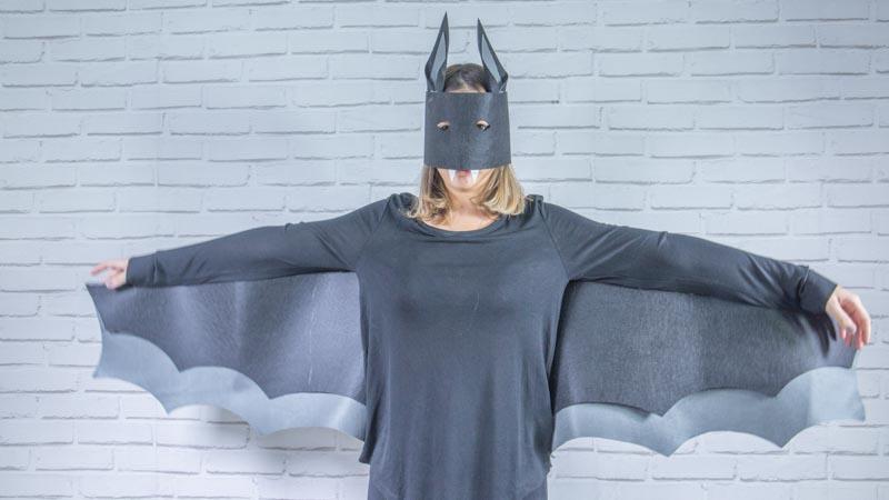 Disfraz de murciélago Handfie