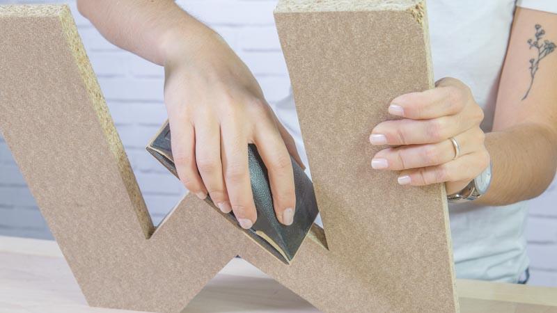 Letras decorativas de madera para la pared handfie diy - Letras de madera decorativas ...