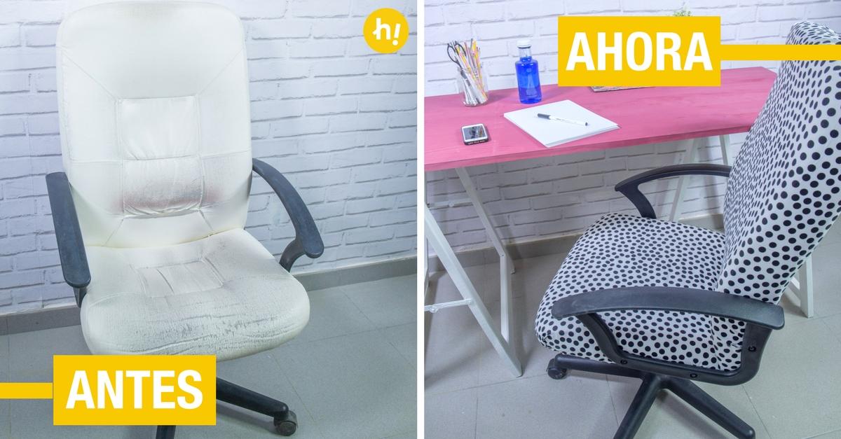 Cómo tapizar una silla de estudio [TUTORIAL] - Handfie DIY