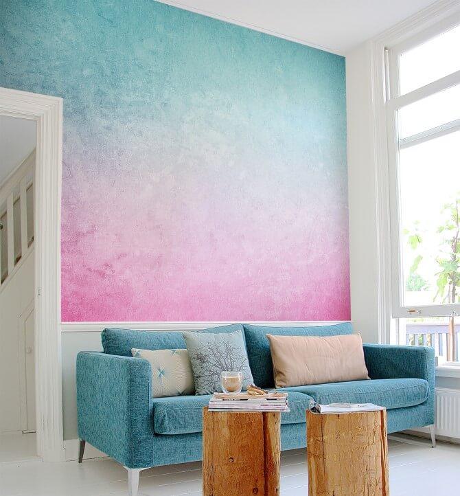 Pintar y decorar las paredes 8 ideas para dar color a tu cuarto - Pastelltone wand ...