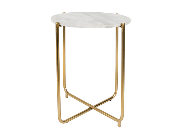16 objetos de decoraci n dorados para esta navidad - Mesa auxiliar dorada ...