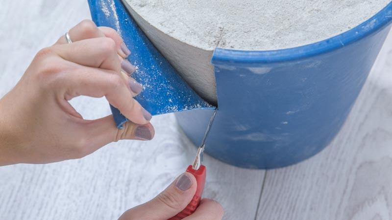 Desmolde de la base de cemento