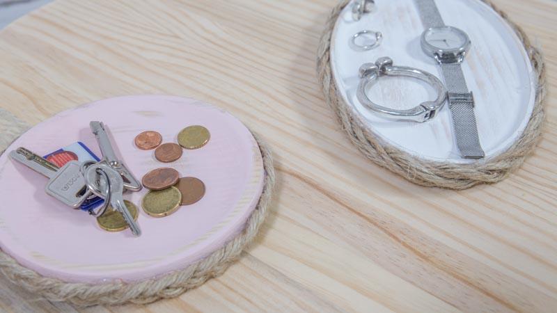 Platos de madera y cuerda Handfie